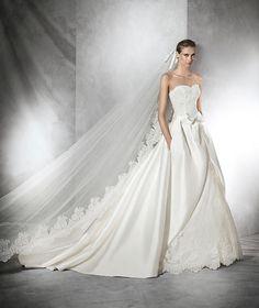 Tolosa, robe de mariée simple, silhouette princesse