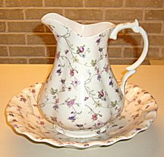 Vintage Pitcher & Basin Set Hand