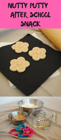 The best after school snack - Nutty Putty  Easy and fun to make and tastes delicious.  Kids, children, DIY, fun at home recipe.