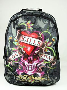 ed hardy art | Ed Hardy Josh Love Kills Slowly Camo Stones Backpack | eBay