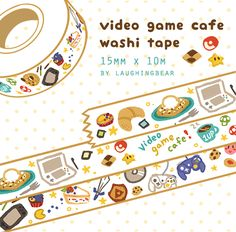 Video games and food, two of the best things in the world!  Washi tape is thin, semi-transparent, removable and can be used for decorating, stationery, and anything else you can do with tape!  ★ 15mm x 10m ★ comes with a bonus sticker   <b>PREORDER ITEM!</b> Preorder period will end July ...