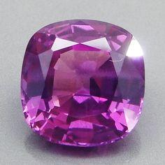 8.20CT.Beautiful Purple Sapphire Cushion Cut 11.3X11.1X7.0 MM. Madagascar