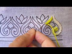 hand embroidery border design ,gorgeous border design for dress,cross stitch - Y. - Verwirrend hand embroidery border design ,gorgeous border design for dress,cross stitch – Y… Hand Embroidery Videos, Hand Embroidery Flowers, Embroidery Stitches Tutorial, Crewel Embroidery, Hand Embroidery Patterns, Embroidery Techniques, Embroidery Kits, Beaded Embroidery, Cross Stitch Embroidery