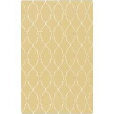 @Overstock - Hand woven of wool, this reversible Jill Rosenwald rug features a flat pile and classic design. Shades of yellow and ivory complete this simple, elegant area rug.http://www.overstock.com/Home-Garden/Hand-woven-Garfield-Wool-Rug-5-x-8/5995964/product.html?CID=214117 $180.99