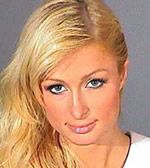 Paris Hilton mugshot. The girl who made it trendy to be famous for nothing, Paris Hilton shown here turned herself in back in June 2007 to serve time for violating her parole. She was originally arrested for drunk driving. Still lookin' all dolled up, even in the slammer. Not sure if that worked in or against her favor. Top 10 Celebrities that Wouldn't Pass a Background Check—Instant Checkmate http://blog.instantcheckmate.com/top-10-celebrities-that-wouldnt-pass-a-background-check/#