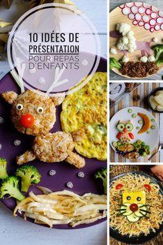 Des idées de présentation de repas d'enfant pour qu'ils aient envie de tout manger ! #repas #enfant #repaspourenfant #presentationassiette #assiette