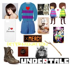 """""""UNDERTALE Frisk inspired outfit."""" by shadowdragon21 ❤ liked on Polyvore featuring Musto and Steve Madden"""