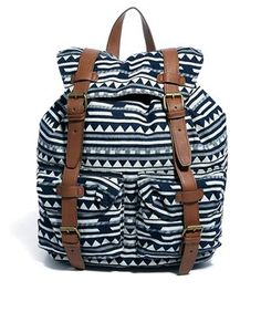 ASOS Backpack in Triangle Stripe Fabric
