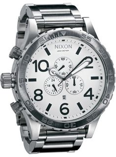 Nixon 51-30 Chronograph White Dial Stainless Steel Mens Watch A083100