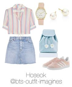 Traveling around Texas with Hoseok Kpop Fashion Outfits, Korean Outfits, Cute Fashion, Look Fashion, Korean Fashion, Simple Outfits, Trendy Outfits, Summer Outfits, Cute Outfits