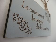 Kitchen Sign La Cuisine Sign French Wall Decor Wooden by Crafu