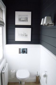 Half bathroom ideas and they're perfect for guests. They don't have to be as functional as the family bathrooms, so hope you enjoy these ideas. Update your bathroom decor quickly with these budget-friendly, charming half bathroom ideas # bathroom Downstairs Bathroom, Bathroom Renos, Laundry In Bathroom, Bathroom Ideas, Bathroom Designs, Shiplap Bathroom Wall, Laundry Rooms, Wall Tile, Bathroom Modern