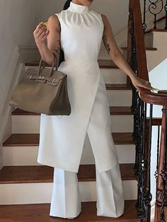 Ericdress Patchwork Dressy Plain White Wide Legs Slim Jumpsuit Fashion girls, party dresses long dress for short Women, casual summer outfit ideas, party dresses Fashion Trends, Latest Fashion # Jumpsuits For Women Classy, Long Jumpsuits, Kids Jumpsuits, Wide Leg Pants, Wide Legs, Look Formal, Look Fashion, Female Fashion, Cheap Fashion