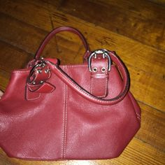 """Little red Purse Cute """"Little Red Riding Hood"""" purse. Silver embellishments, clean inside lightly used.. LIKE NEW❤️❤️ Awesome Deal. *^ PRICE IS A IT'S LOWEST THANK YOU✔️ Bags Mini Bags"""