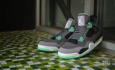 jus added these to the collection on Saturday Jordan 4 Green Glow's be hella fire!