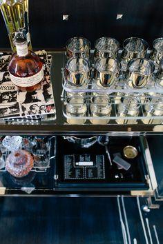 Cocktail cart.
