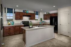 New Homes in Surprise, AZ - Villas at Sycamore Farms Plan 2270 Kitchen Sycamore Farms, Farm Plans, Kb Homes, Arizona, Kitchen Models, New Home Communities, Build Your Dream Home, New Homes For Sale, Planer
