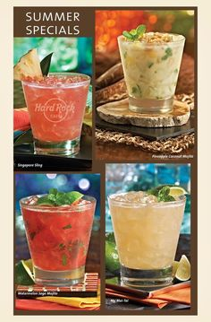 #Summer #Specials #Cocktails #Mojito #Singapore #Sling #Pineapple #Watermelon…