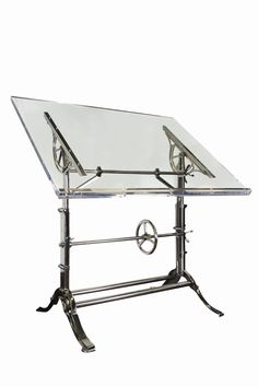 modern take on adjustable, industrial work table