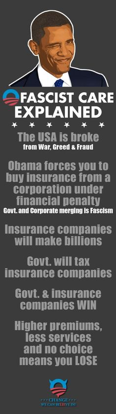 It's Fascism: Obamacare explained #tcot #ccot #hcr #Obama #TeaParty-If insurance companies lose money they will get a bailout.