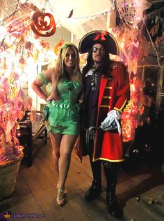 Alexandria: Captain Hook and TinkerBell! We added all of the touches to both costumes! They were both a collaboration of store bought and home-made additions. Even our parrot, Morgan Blue, made...