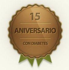 logo 15 años con diabetes