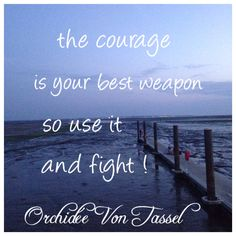 Courage, weapon, fight, quote, mer, sea