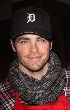 OMG.  Just thought I loved him after seeing him in a movie trailer and now he's wearing a Detroit hat?! #swoon