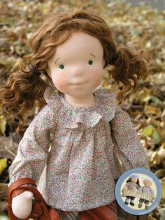 Daria - waldorf inspired cloth doll by Lalinda.pl