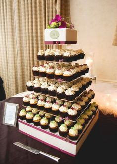 Square Wedding Cupcake Towers