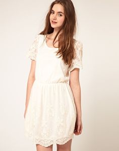 ASOS Skater Dress with Embroidery - great short wedding dress option