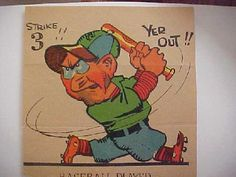 very rare caricatures | Baseball Player on Vinegar Valentine 1890-1920