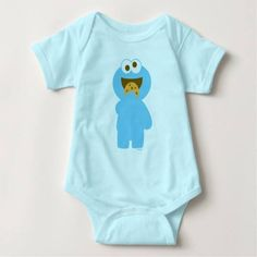 (Baby Cookie Monster Eating Infant Creeper) #Children #Kids #Monster #MonsterHead #MonsterSesameSt #MonsterSesameStreet #Muppets #SeasameSt #SeasameStreet #Sesame #SesameSt #SesameStreet #SesameStreetCharacters #TvShow is available on Famous Characters Store http://ift.tt/2bSuweI