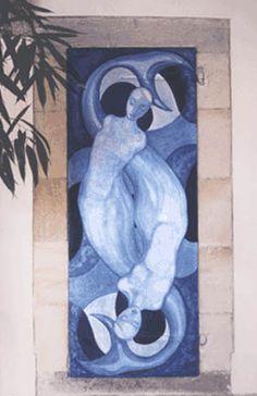 Part of the Doors project. Mermaid door by Rossetta Woolf