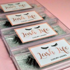 Stickers and labels are perfection 👌🏼 Lash Life offers super soft, luxury lashes that are cruelty-free and vegan. Come and print stickers today - Custom Sticker Printing, Custom Stickers, Printing Services, Cruelty Free, Eyelashes, Branding, Australia, Cosmetics, Vegan
