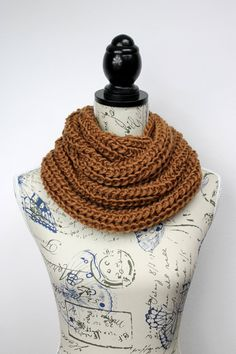 Chunky Cowl Scarf - Knit Cowl Scarf - Thick Chunky Scarf - Knitted Women Scarf - Knit Loop - Knit Infinity - Knit Circle Scarf - Accessories