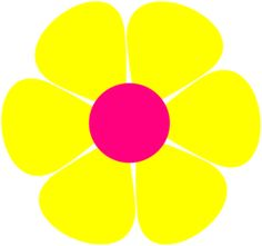 70s groovy clip art free retro clipart picture of a day glo flower rh pinterest com  flower power clipart