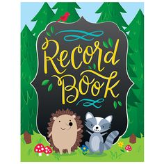 """This Woodland Friends Record Book will keep you organized and prepared. Spiral-bound, 8.5"""" x 11"""". Features these helpful resources: Student roster Behavior and observation logs Parent contact notes te"""