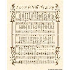 I LOVE To Tell The STORY  Hymn Wall Art  Custom by VintageVerses