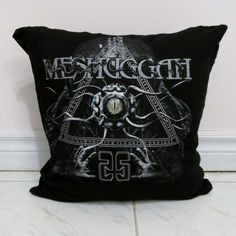 Meshuggah Pillow DIY Heavy Metal Decor #1 (Cover Only; Insert Available) by DarkStormDesign on Etsy