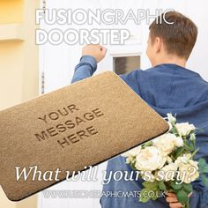 Fusion Graphic Mats Doorstep. www.fusiongraphicmats.co.uk #fusiongraphic #personalised