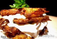 Kolbászos cicege kapros tejföllel Menu Planning, Potato Recipes, French Toast, Bacon, Pizza, Potatoes, Favorite Recipes, Meat, Food