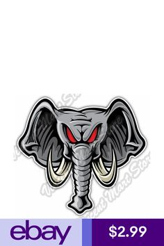 Statement Stickers & Decals Collectibles Dime Bags, Elephant Face, Angry Face, Punisher Skull, Alabama Crimson Tide, Decals, Lion Sculpture, Statue, Cartoon