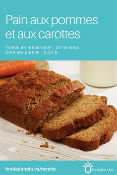 Apple and carrot bread, to be used for brunch or as a snack. Carrot Bread Recipe, Bread Recipes, Cake Recipes, Dessert Recipes, Brunch, Muffin Bread, 20 Minutes, How Sweet Eats, Sweet Bread