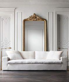 I always LOVE big antique gold mirrors