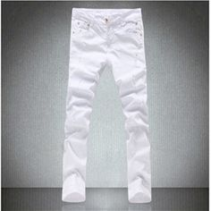 >> Click to Buy << Men's Summer Style 2017 White Cotton Male Skinny Ripped Jeans For Men High Quality Fashion Brand  #Affiliate