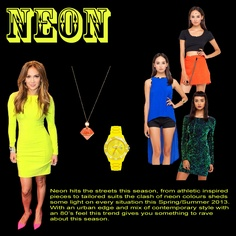 Get the Neon look this season...  its blinding!  Shop this look at www.pinsur.com
