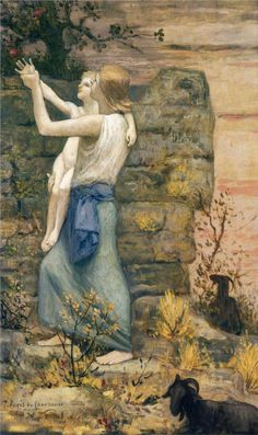The Keeper of Goats by Pierre Puvis de Chavannes -   http://www.wikiart.org/en/pierre-puvis-de-chavannes/the-keeper-of-goats     ||  Pierre-Cécile Puvis de Chavannes     (14 December 1824 – 24 October 1898),   French painter. -  http://en.wikipedia.org/wiki/Pierre_Puvis_de_Chavannes