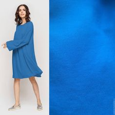 Купить Плательный креп 7 цветов - голубой, плательный креп, итальянский креп, вискозный креп