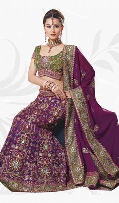 Plum-Georgette-Designer-Party-Wear-Chaniya-Choli-Lehenga-Choli